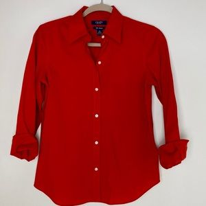 Chaps Red No Iron Button Down - Size S
